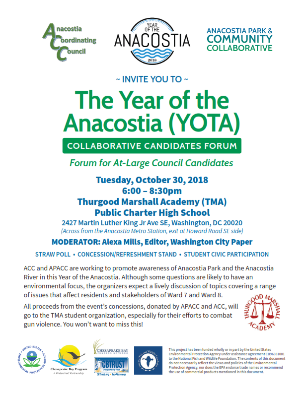 October 30 Year Of The Anacostia At Large Candidates Forum