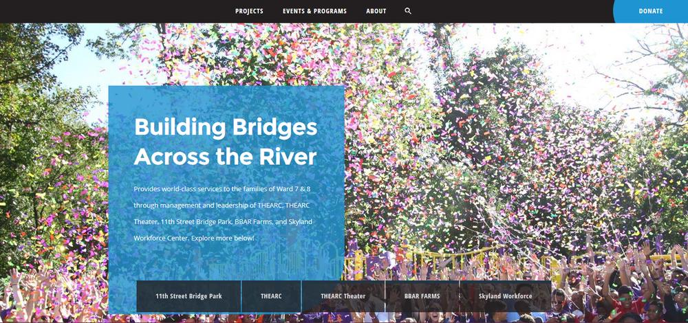 new building bridges across the river website screen shot