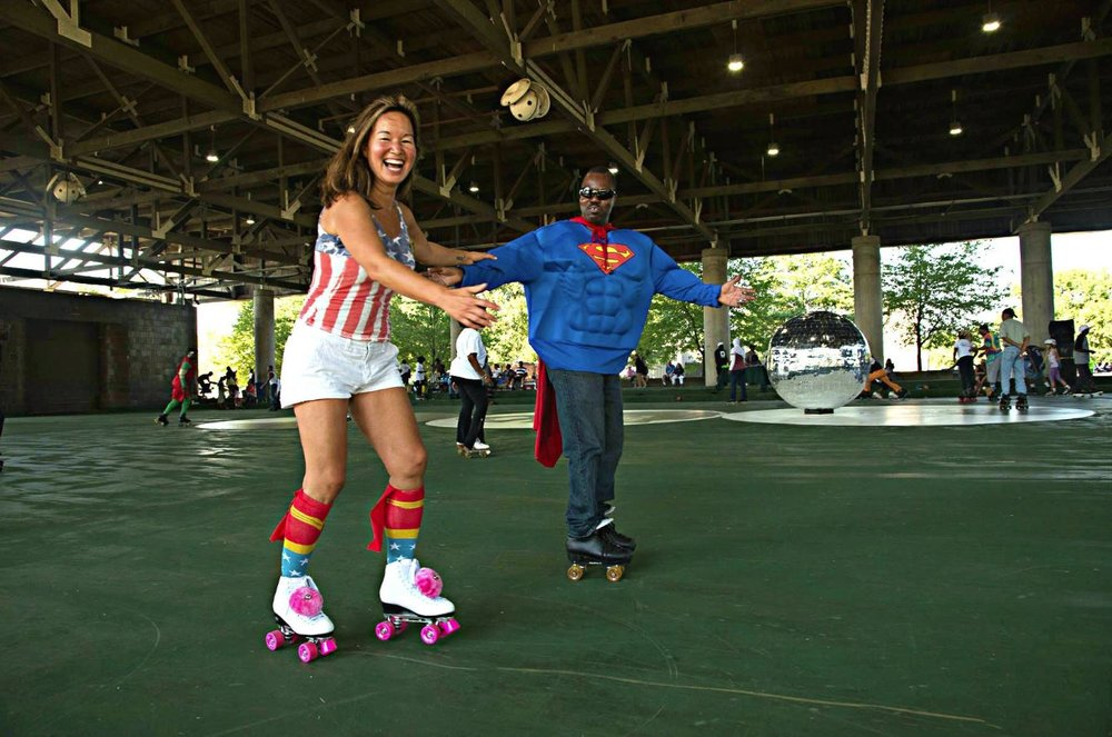 "Photo: NATIONAL PARK SERVICE. ""Scary Skate"" event in Anacostia Park. (The Anacostia Skating Pavilion is the only waterfront skating pavilion in any US national park!)"