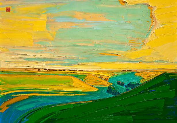 "Allan Chow ""Majestic Hills"" (Artist Embellished)"