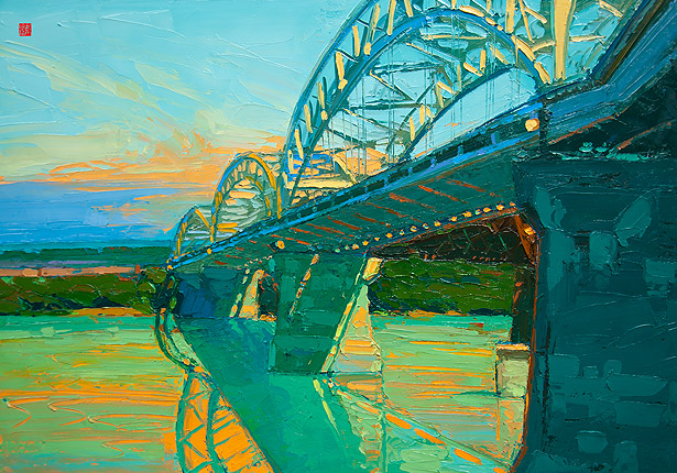 "Allan Chow ""Morning Sky"" (Artist Embellished)"