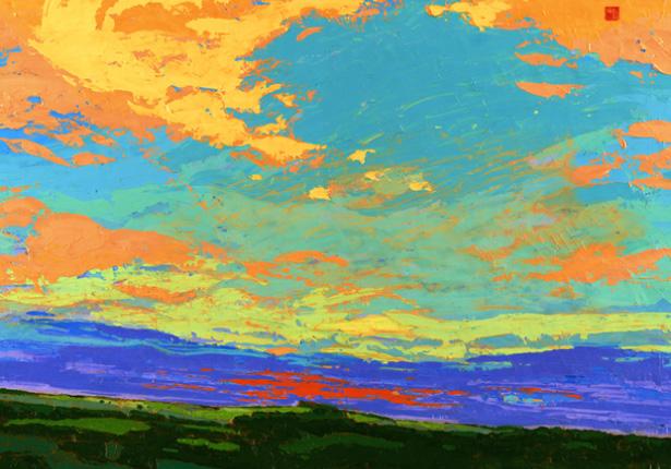 """Allan Chow """"Summer Filled Sky"""" (Artist Embellished)"""