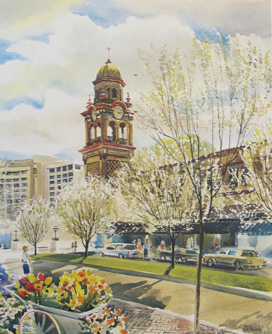 "Jim Hamil ""Plaza Blossoms"""
