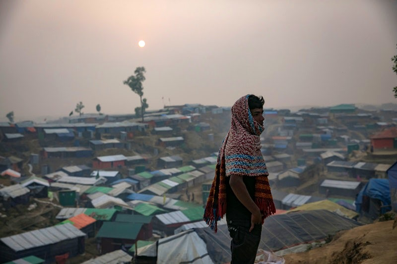 Rohingya refugees in Balukhali camp on January 14, 2018, in Cox's Bazar, Bangladesh.   Allison Joyce/Getty Images