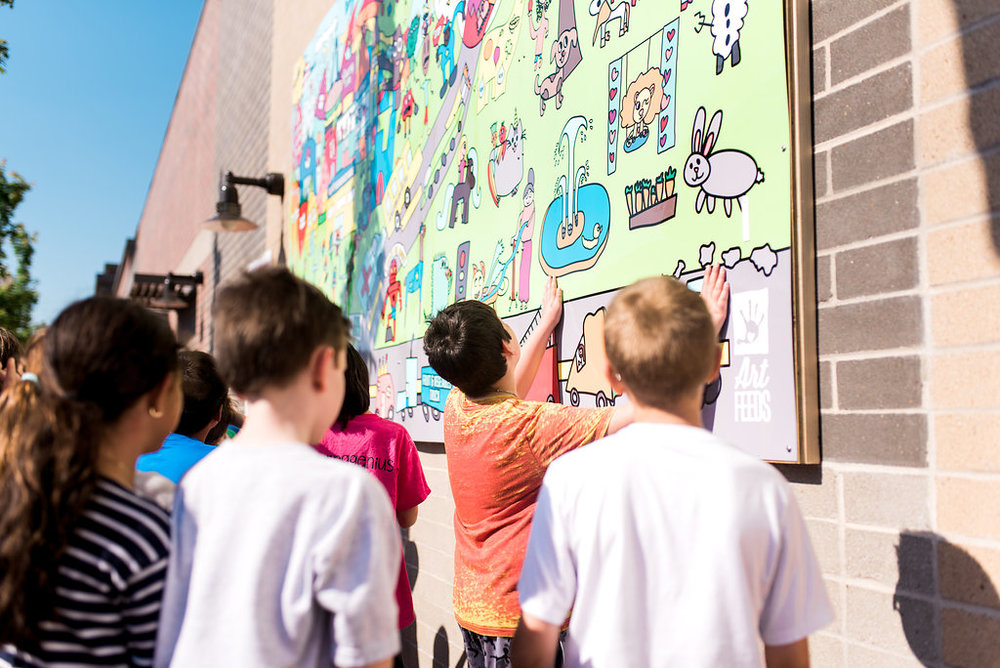 Since 2009, we've: - •Reached 45,000 children•Created 40 murals•Worked with 75 schools and children's organizations