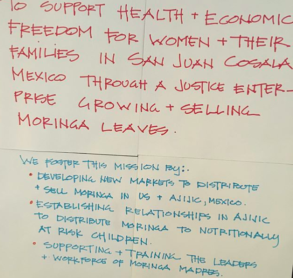 Notes from the strategic planning with the Moringa Madres