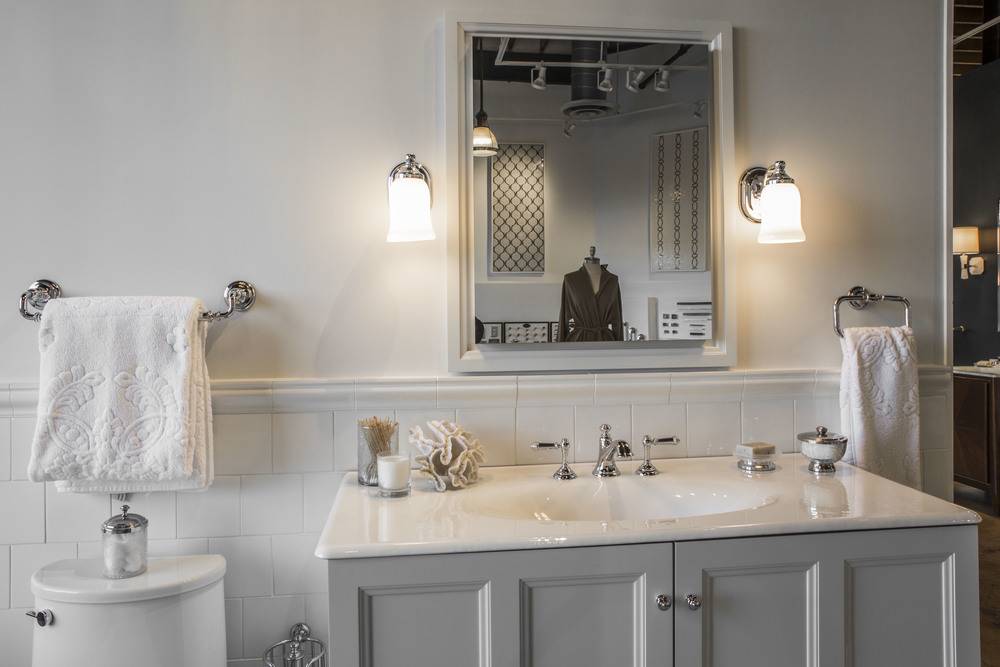 BATHROOM LUXURY     Make your bathroom a retreat with Kenny & Company's premium sinks, faucets, vanities, toilets, showers, and tubs.