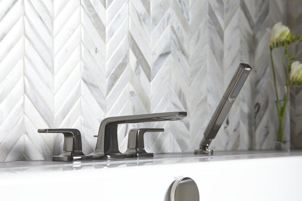 chevron patterned tile