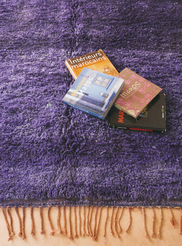 Deep Purple hue made from natural dyes instantly adds character to any room.
