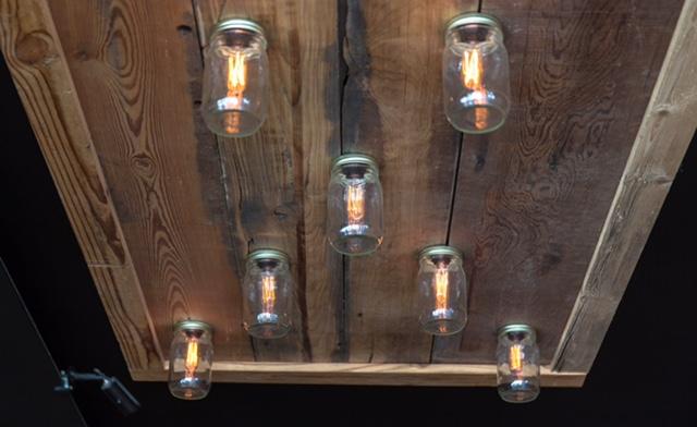 custom barn siding mason jar lighting