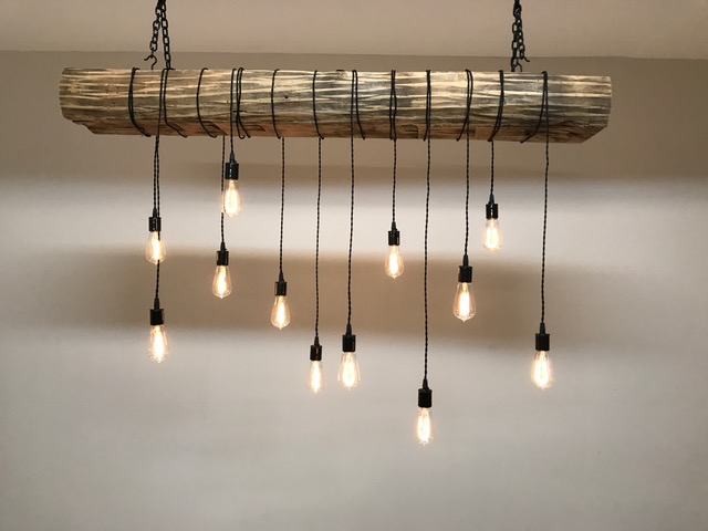 Rustic Wood Beam Light Fixture