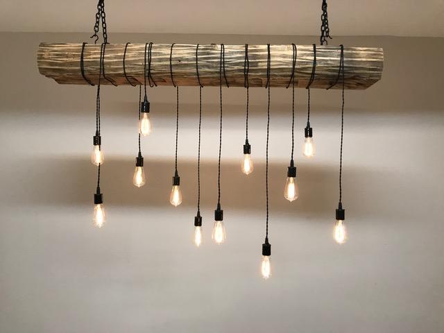 Rustic Wood Beam Light Fixture
