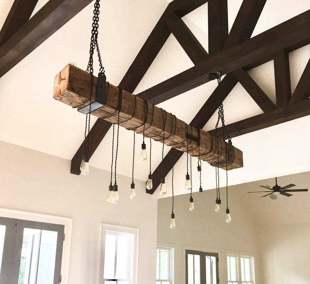 wood beam light fixture
