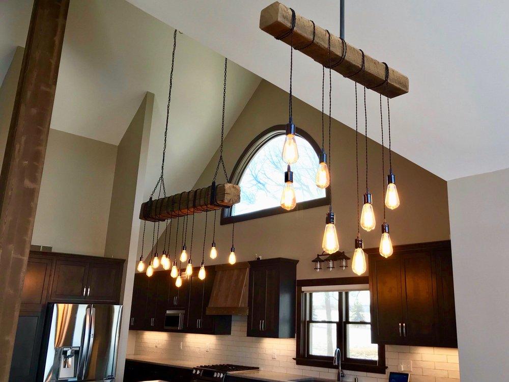 Wood light fixtures