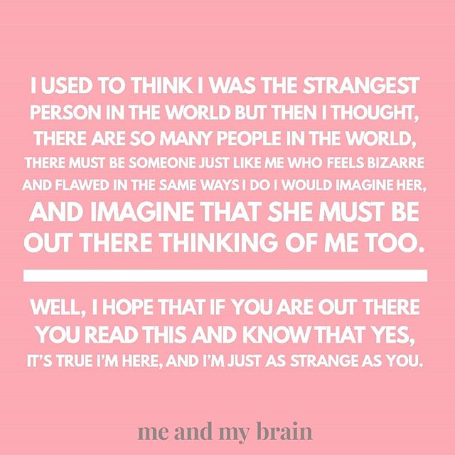 Mind officially BLOWN: so it turns out this quote probably isn't by Frida Kahlo, but rather by a young woman who sent it to #postsecret on a Frida image. Well, that's a surprise. But regardless of its provenance, it's one of those things that always chimes with my heart. I've had a week where I've been able to give to others, and it's always lovely when your own strangeness is appreciated and loved by others. . .  #mentalhealth #mentalillness#bipolar#bipolarlife#bipolarbae#bipolardisorder#anxiety#depression#mixedstate#mhbloggers#mhpodcas #mentalhealthawareness #mentalhealthpodcast #bpd #eupd #ed #socialanxiety #ocd #recovery