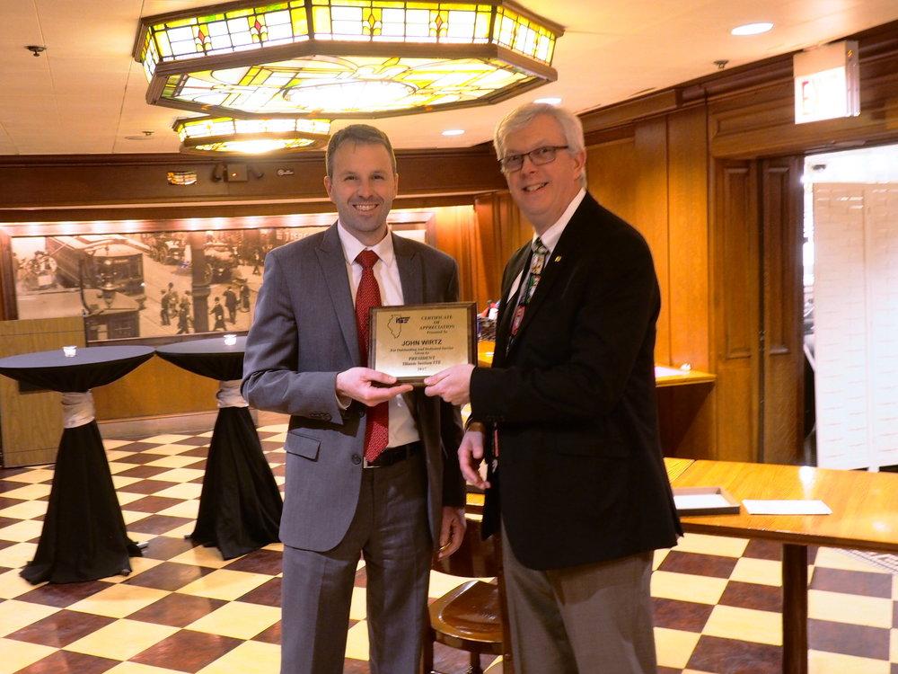 Outgoing President's Award -  John Wirtz