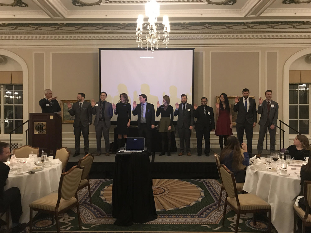 2019 Board swearing in - Led by John Davis