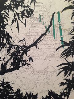 """Jessica van Brakle, Steep Climb, 2013, 20"""" x 16"""" x 2"""""""