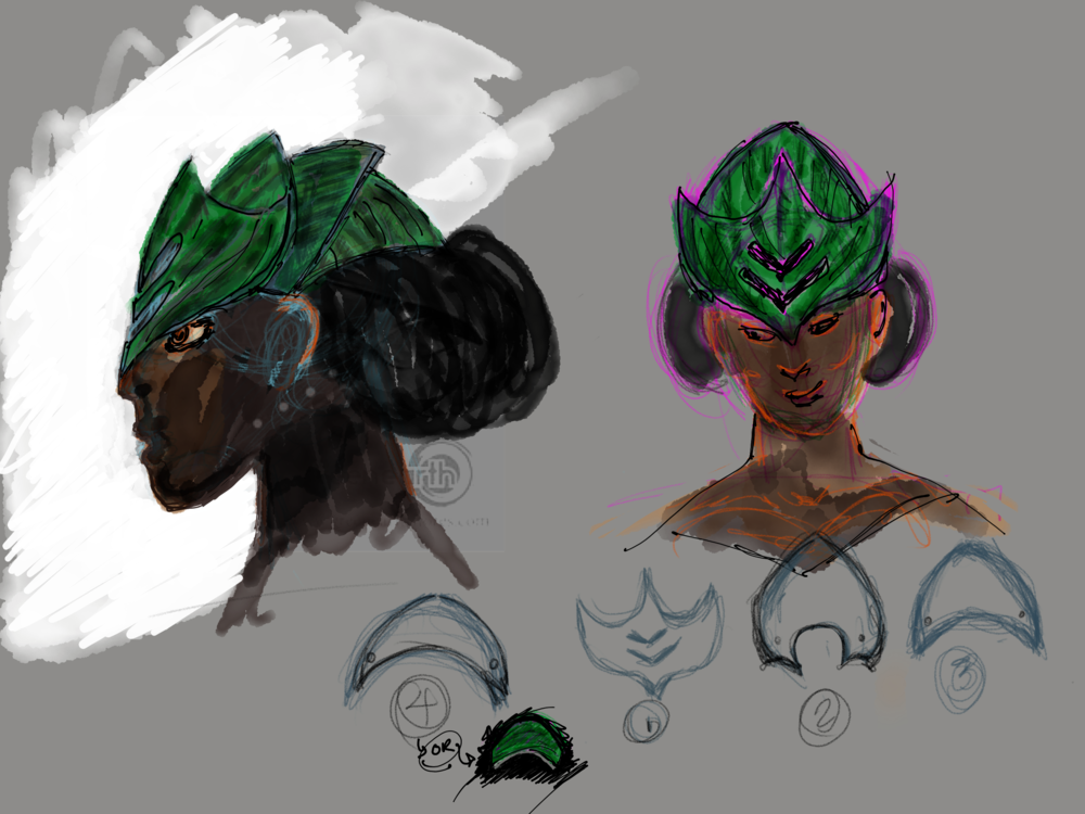 watermelon headdress design
