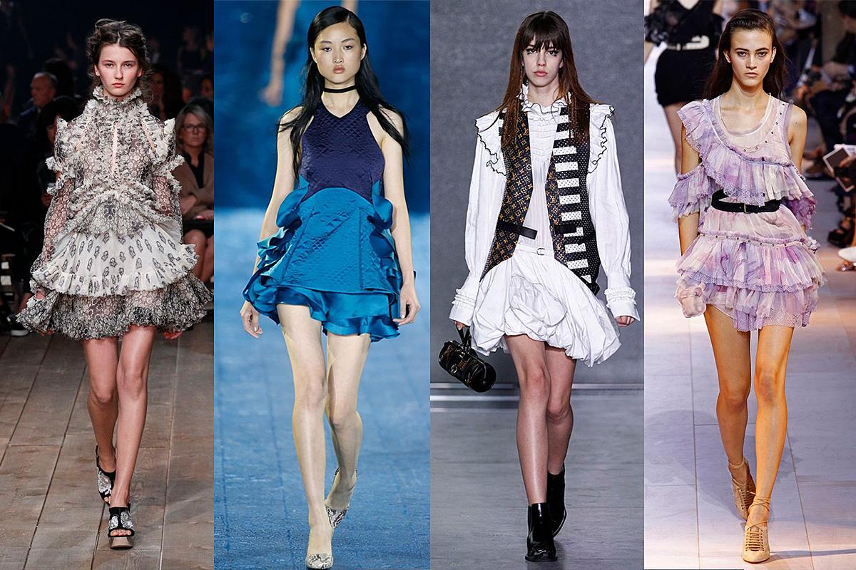 Alexander McQueen, Mary Katranzou, Louis Vuitton, Roberto Cavalli