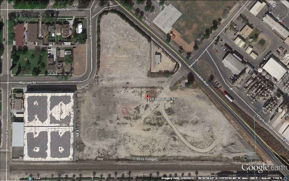 Above is an aerial photo of the existing GCV campus prior to construction.