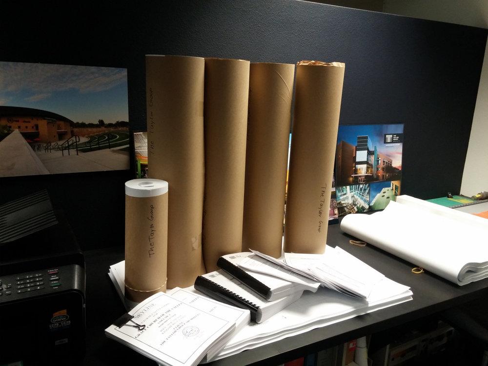 Plans On Desk