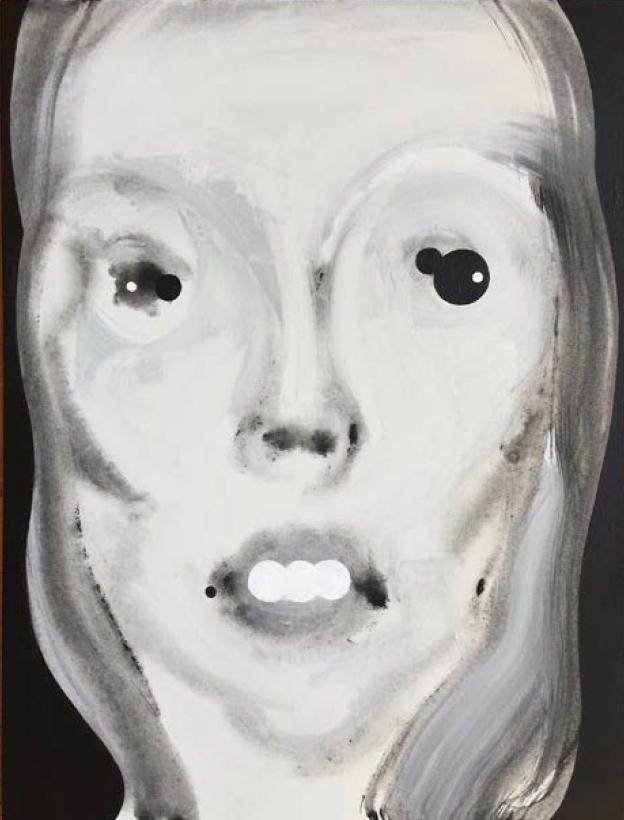 "J Mitchell Vivian   Acrylic on Canvas panel  18"" x 24""  2017"
