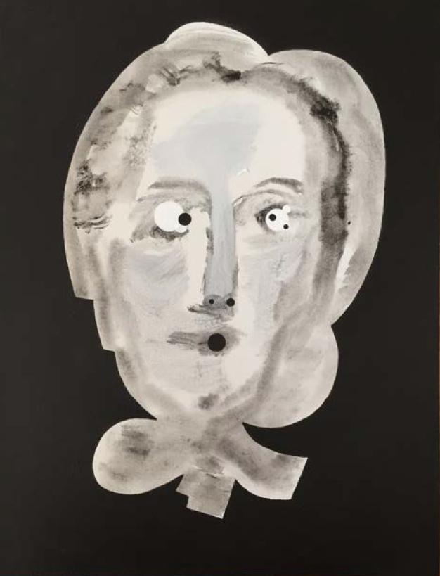 "Bertha Vivian   Acrylic on Canvas panel  18"" x 24""  2017"