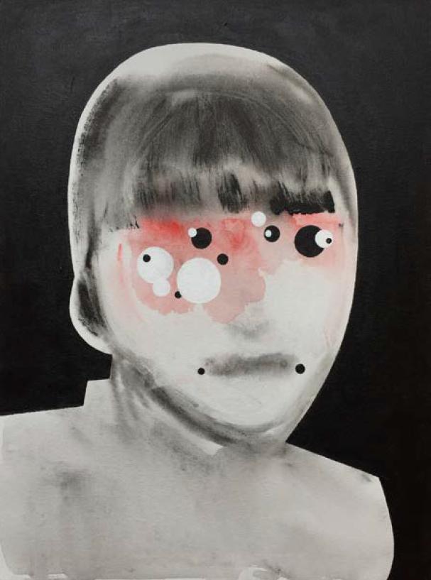 "Hiromi Vivian   Acrylic on Canvas panel  18"" x 24""  2017"