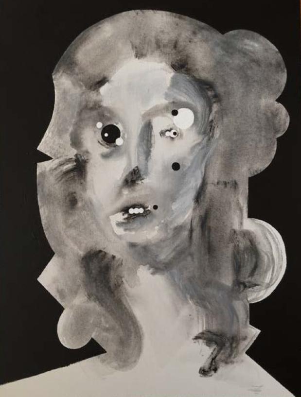 "Ida Vivian   Acrylic on Canvas panel  18"" x 24""  2017"