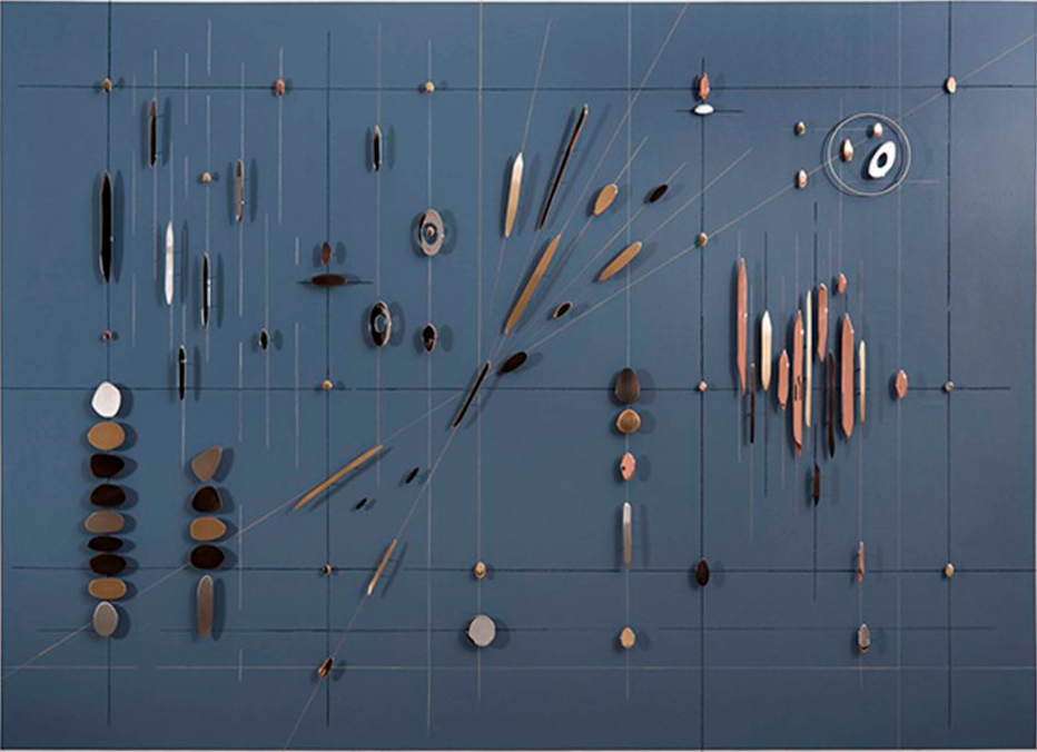 Carolina Sardi, Gravitational Field, platedsteel on painted surface, 98 x 136 x 2_2.png