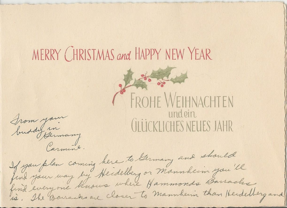 Christmas Card from Carmine — Letters from my Ceiling