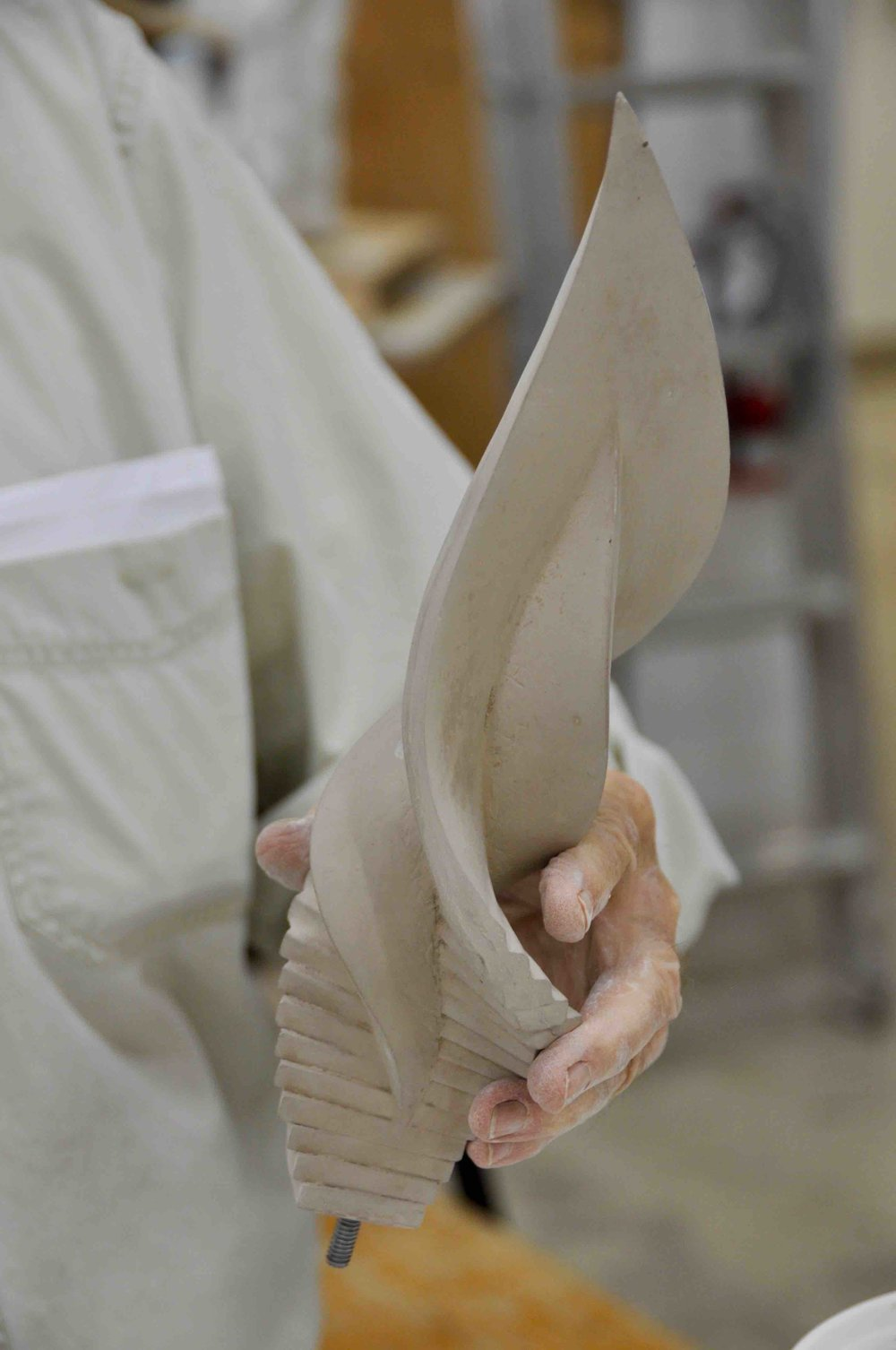Casting a sculpture with Winterstone