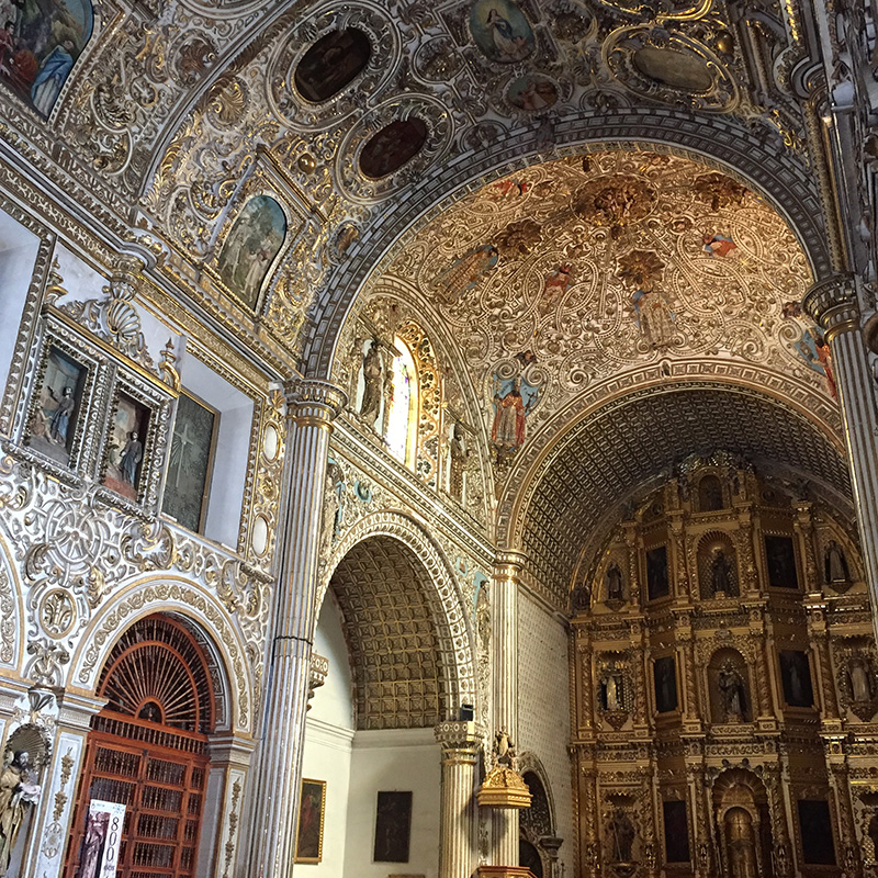 Inside Santa Domingo Church
