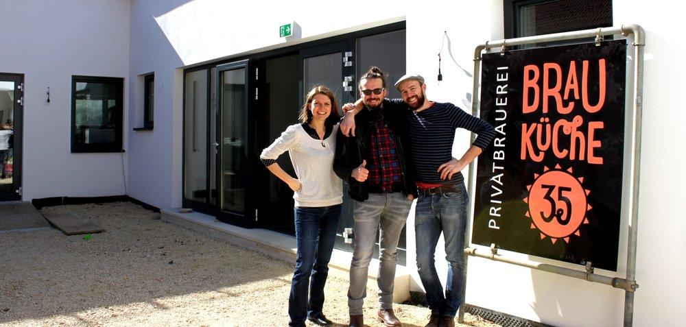 Das Brauküchen-Team: Kathrin Erlebach, Rainer Gartler, Jörg Gartler
