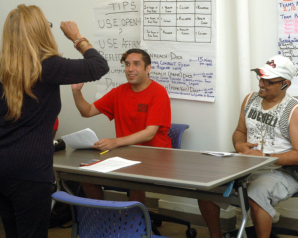 Adam O. and Julio P. during their final role play
