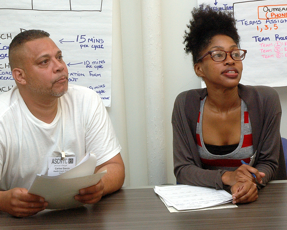 Carlos G. and Bridget S. during their final role play