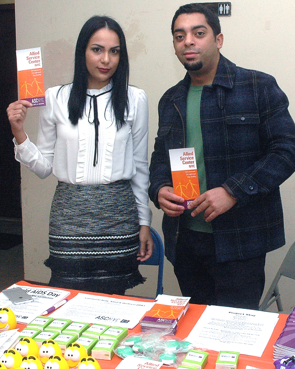 Two ASCNYC Staff Members at the Outreach table