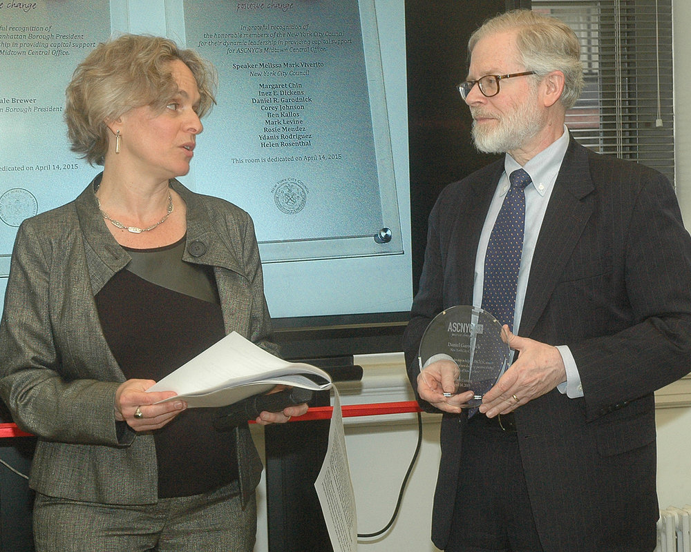 Sharen Duke and NYS Assembly Member Richard N. Gottfried