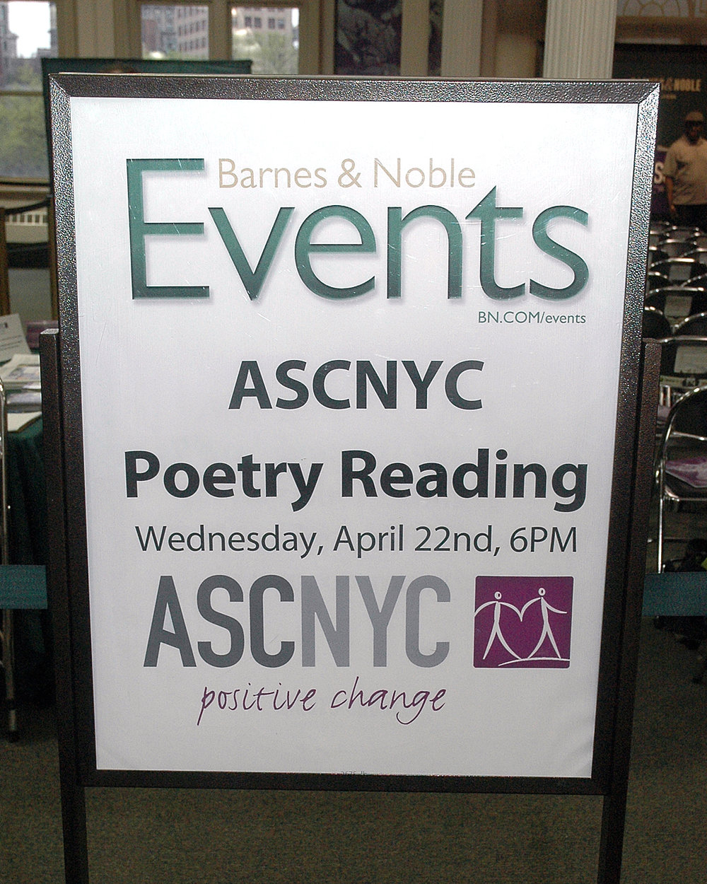 ASCNYC Poetry Reading at Barnes and Noble