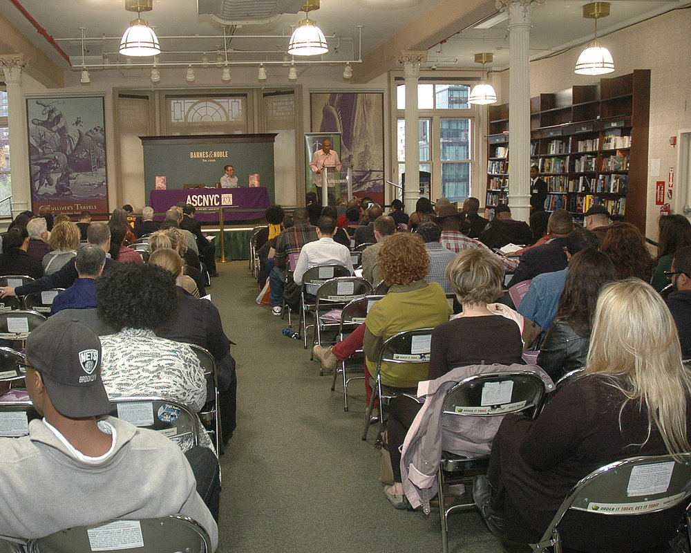 A full house at the poetry reading