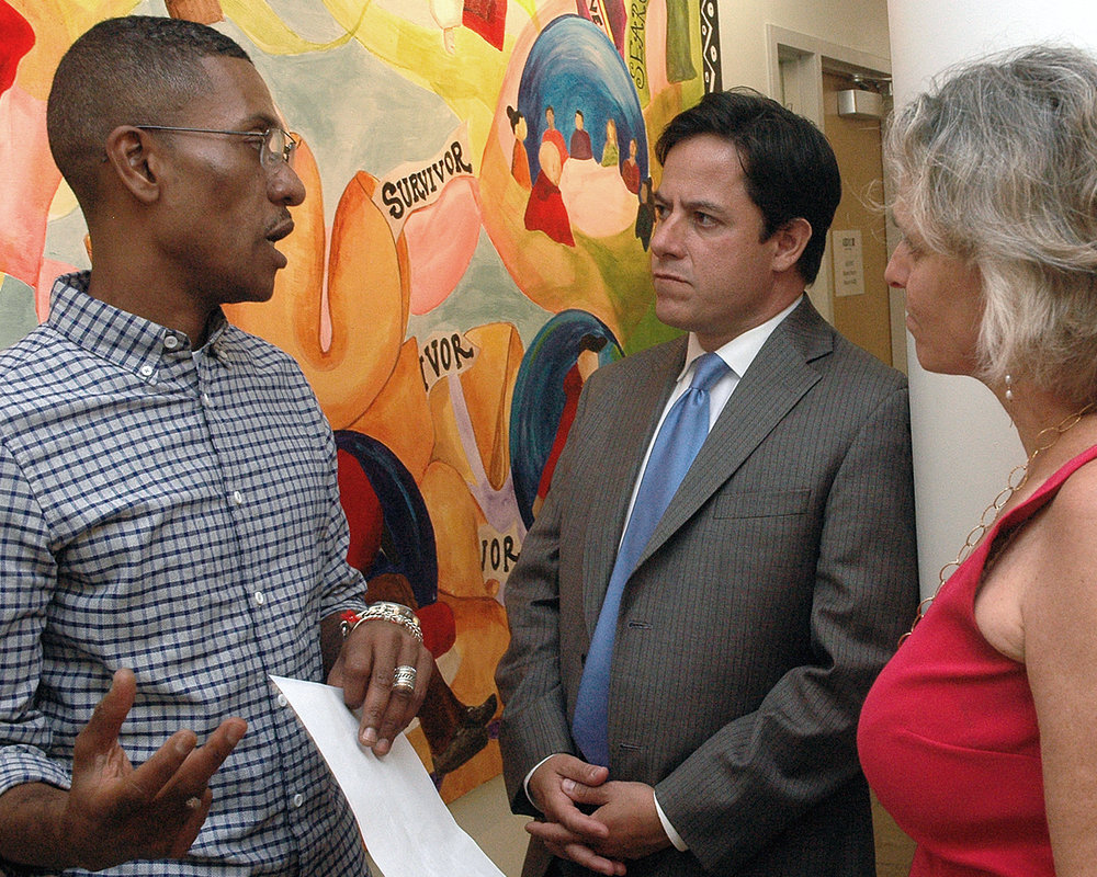 ASCNYC Staff Member, Luis Worrell, NYC Council Member, Daniel Garodnick and ASCNYC CEO/ED Sharen Duke