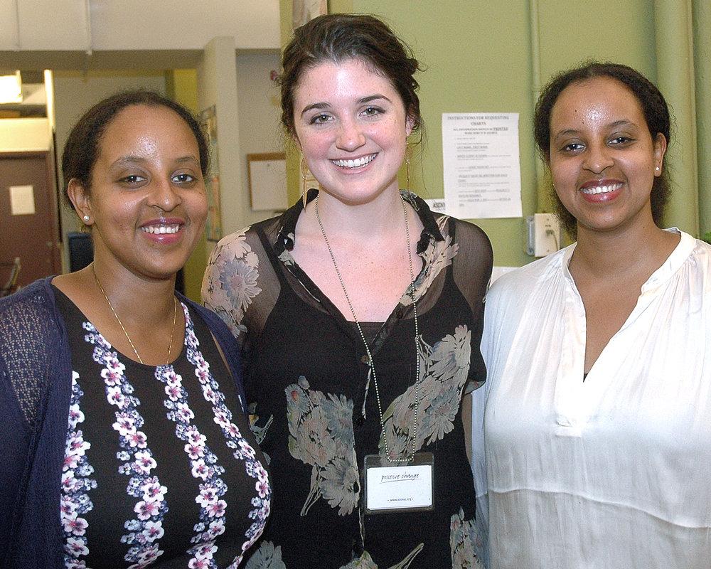 Tadessech Hailu, Rose Milando and Taitu Hailu