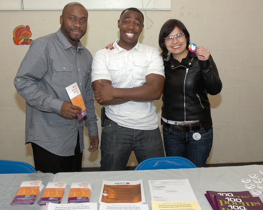 ASCNYC Staff Members at the Outreach table
