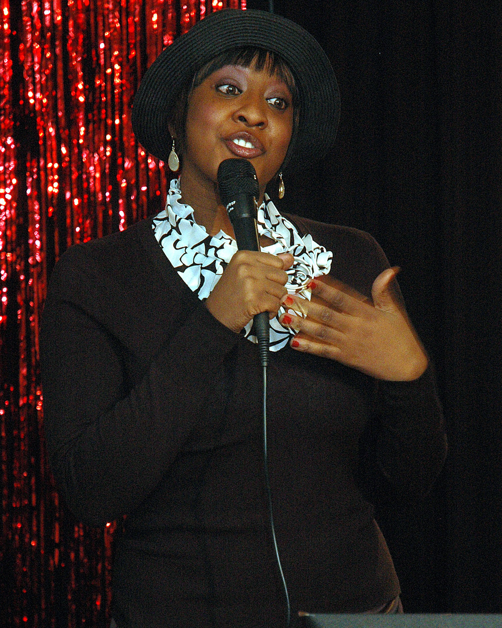 Ebony Ross during the testimonial to Brenda Starks-Ross
