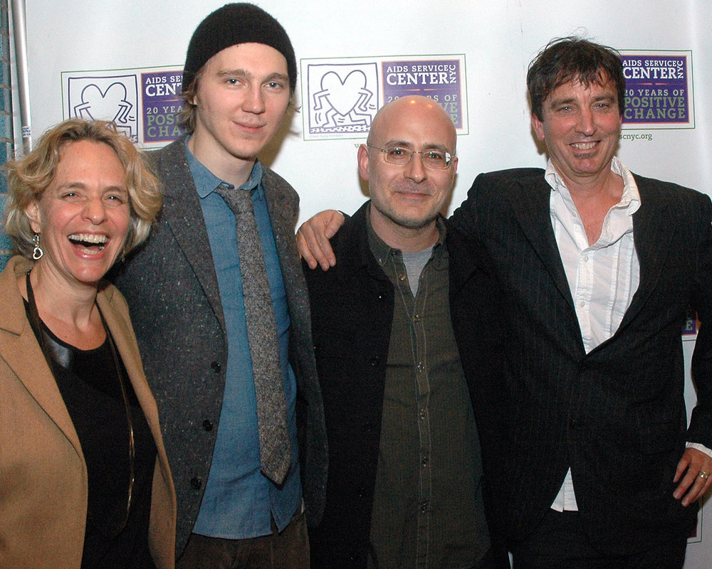Paul Dano, Nick Flynn, CEO Sharen Duke, ASCNYC Board Member Michael Kaminer