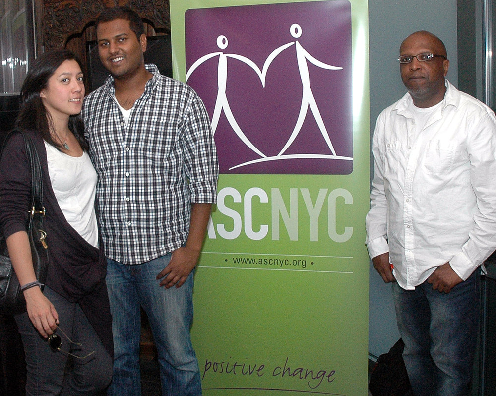 ASCNYC Staff Stephen Sukumaran and Guy Williams with Guest Paloma Woo