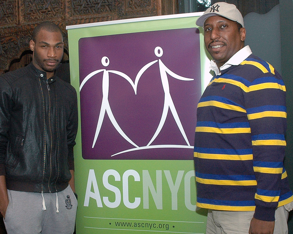 ASCNYC Volunteers Bryan S. and Chris B.