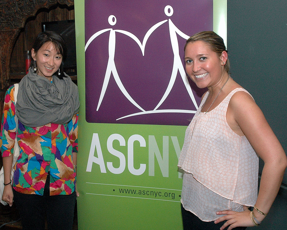 ASCNYC Staff Gracie Gin and Event Coordinator Rebecca O`Neill