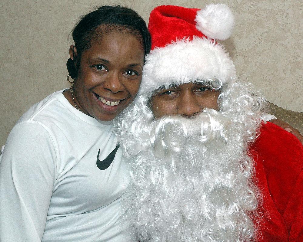 Diane Williams with Santa
